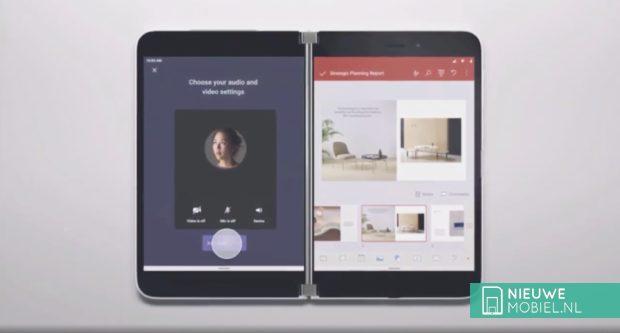 Microsoft Surface Duo multitasken