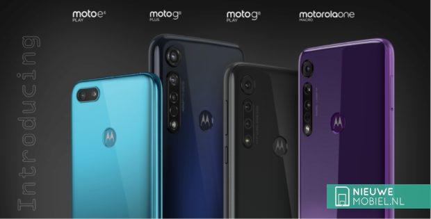 Lenovo onthult 3 Motorola's; Moto G8 Plus, G8 Play en E6 Play
