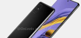 Groot lekt toont Samsung Galaxy A51 met 4 camera's