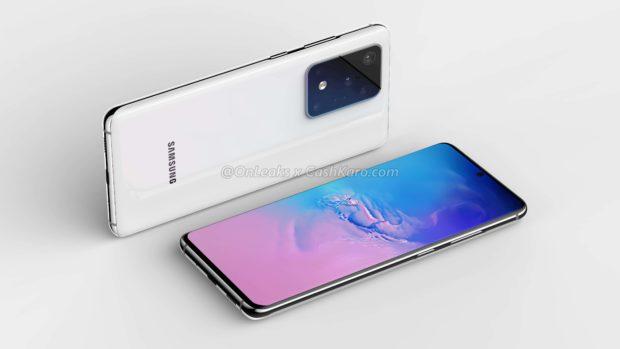 Samsung Galaxy S11+ CAD render