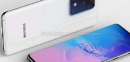 Render van Samsung Galaxy S11+ toont forse cameramodule