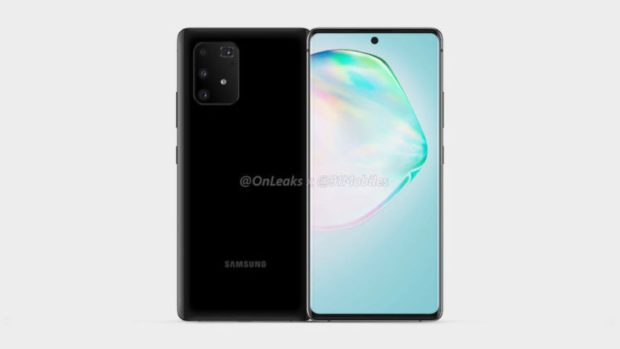 Samsung Galaxy A91 in black