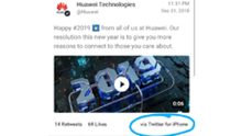 Huawei bestraft medewerkers die tweet via iPhone verstuurden