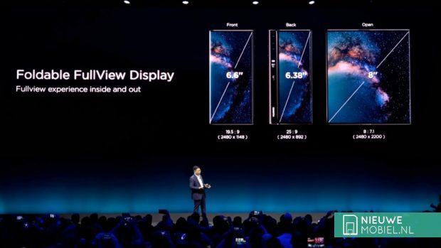 Opvouwbare Huawei Mate X