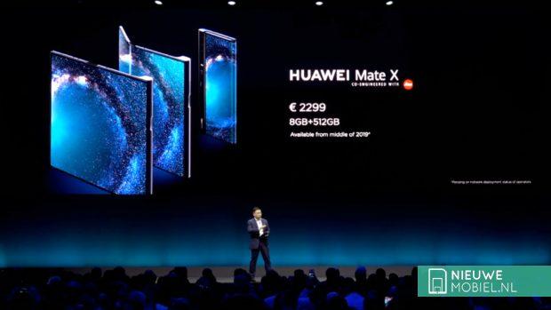 Huawei Mate X prijs