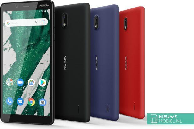 Nokia 1 Plus kleurenoverzicht