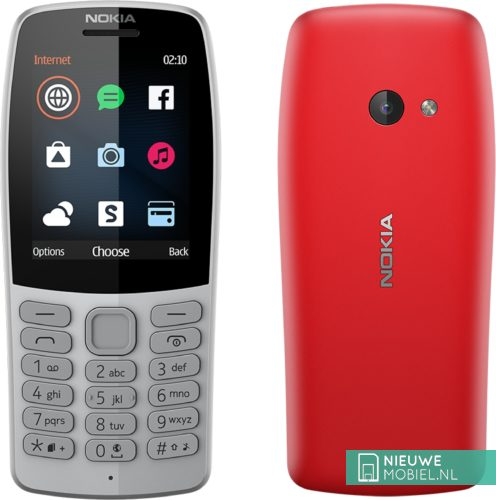 Nokia 210 Red and Grey