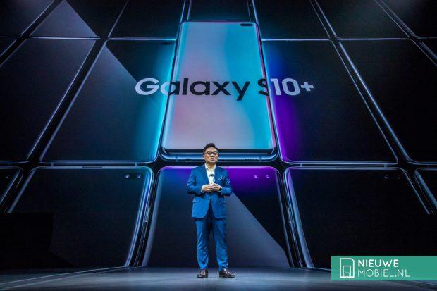 Samsung Galaxy S10 tijdens Unpacked