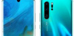 Renders van Huawei P30 en P30 Pro tonen camera met 10x zoom