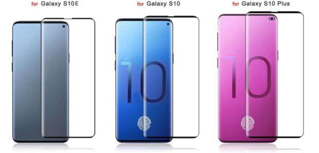 Samsung Galaxy S10E, S10 en S10 Plus screenprotector