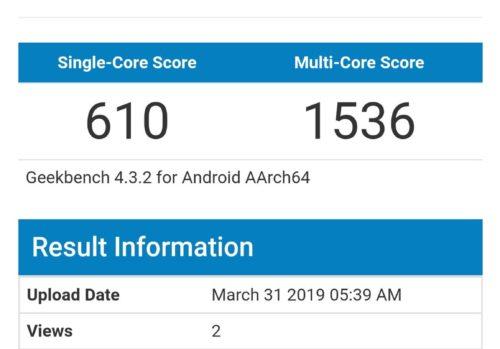Android 10.1 duikt op op Geekbench