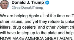 Trump wil 'Quid pro quo' van Apple om vergrendelde iPhones