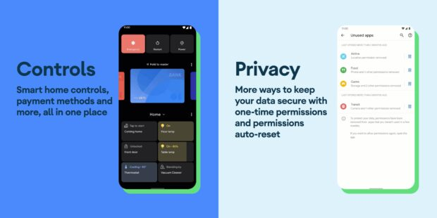 Android 11 Controls en Privacy