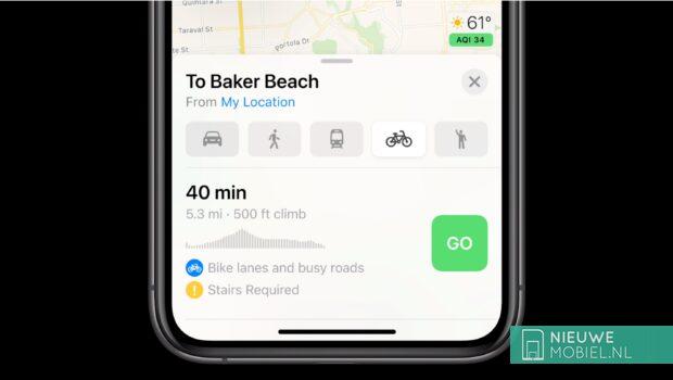 iOS 14 - Modo bicicleta
