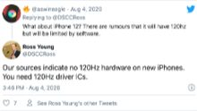 El iPhone 12 de Apple se aferra a los antiguos 60Hz
