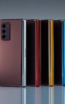 Wist je dat je het scharnier van de Samsung Galaxy Z Fold 2 in een afwijkende kleur kunt krijgen? Metallic Silver, Metallic Gold, Metallic Red of Metallic Blue. Wat is jou favoriet?
