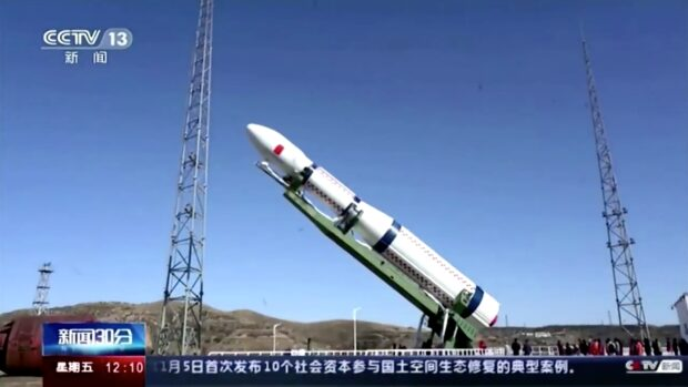Long March 6-raket with the Star Era-12 satellite to test 6G
