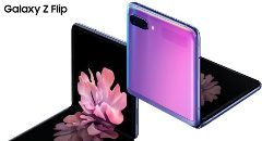 Poster van Samsung Galaxy S20 Ultra 5G en Galaxy Z Flip binnen