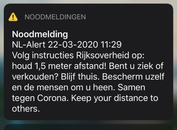 NL-Alert Coronavirus