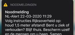 NL-Alert verzonden vanwege Coronavirus