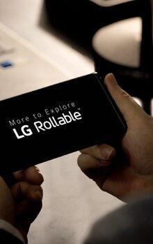 LG toont voorafgaand aan CES21 beelden van LG Rollable. Een telefoon waar het scherm van kan uitschuiven #LG #Rollable #foldable #CES21