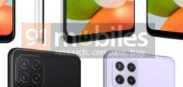 Le Samsung Galaxy A22 non annoncé présente un design coloré