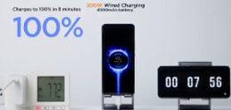 Xiaomi 200W HyperCharge peut charger un téléphone portable en 8 minutes