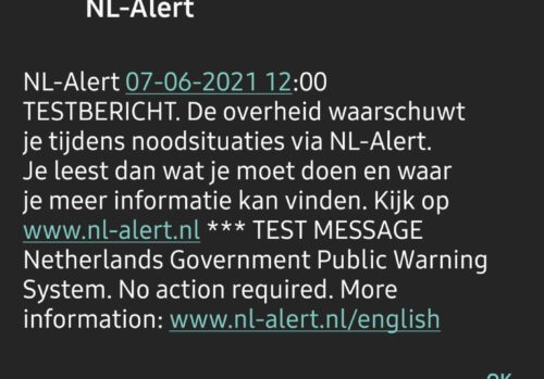 Test de #NLAlert réussi