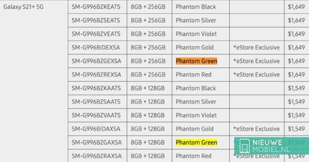 Samsung S21+ Phantom Green