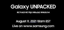 Samsung bestätigt: Galaxy Z Fold 3, Flip 3, Buds 2 und Watch4 kommen am 11. August