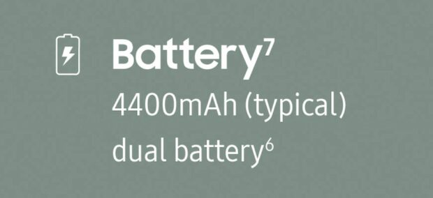 Samsung Galaxy Z Fold3 battery