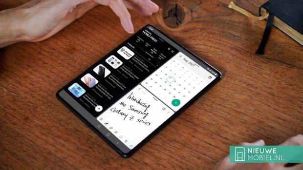 Samsung Galaxy Z Fold3 in use