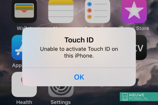 Unable to activate Touch ID