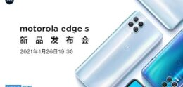 Official image shows Motorola edge S with launch date