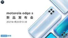 La imagen oficial muestra el borde S de Motorola con la fecha de lanzamiento