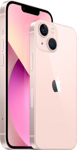 Apple iPhone 13 and iPhone 13 mini in pink