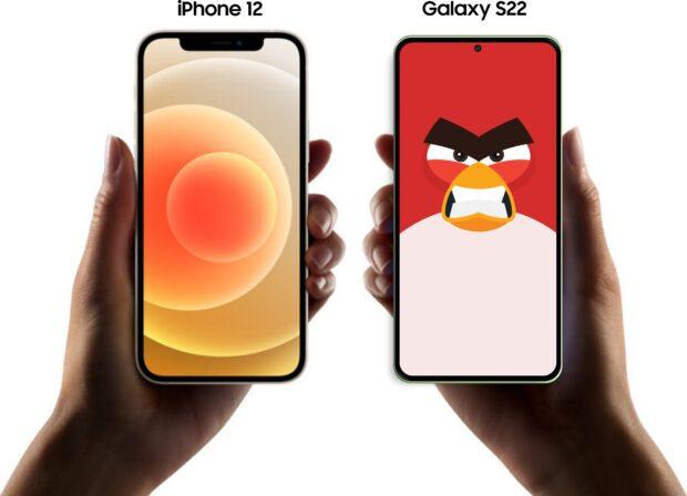 Apple iPhone 12 vs Galaxy S22