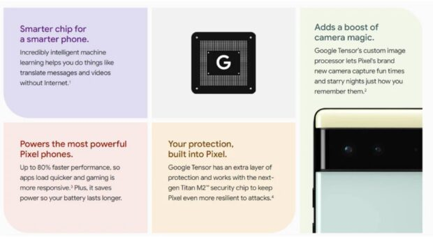 Google Pixel 6 Tensor chipset