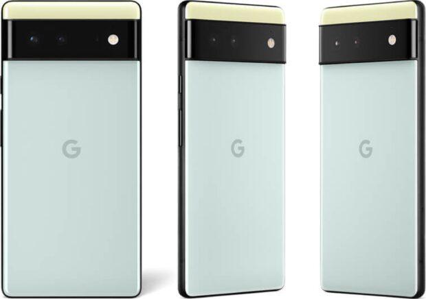 Google Pixel 6 rear Seafoam Green
