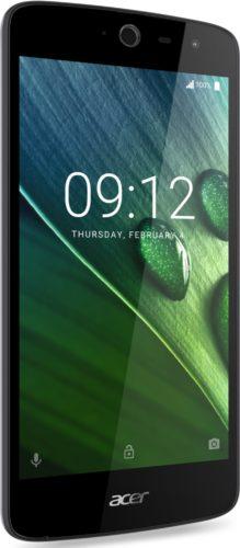 Acer Liquid Zest zwart voorkant linkerzijkant
