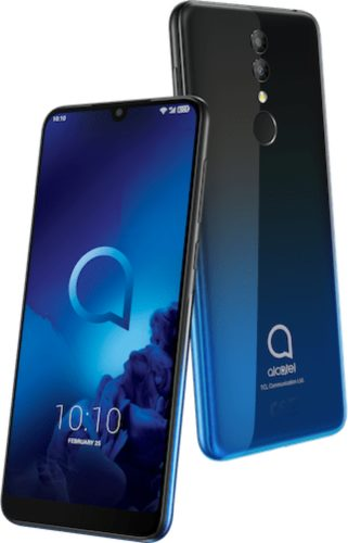 Alcatel 3 2019 blue overview