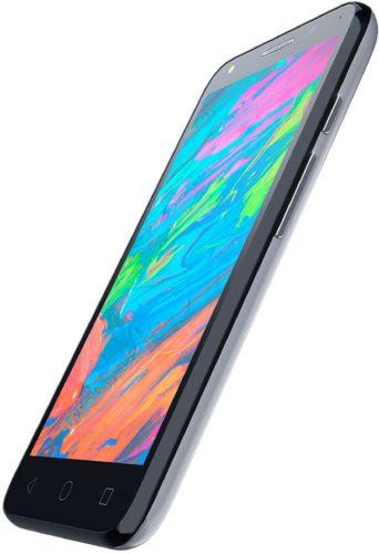 Alcatel Pixi 4 5 dualsim 4g grijs voorkant rechterzijkant