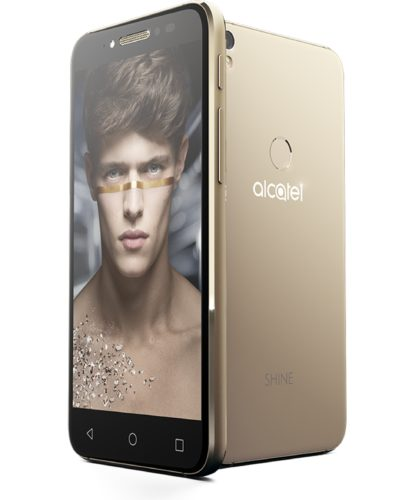 Alcatel Shine Lite goud overzicht
