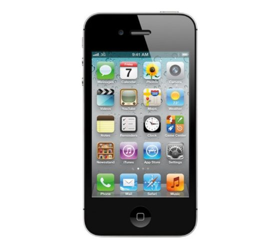 Apple iPhone 4S voorkant zwart