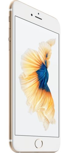 Apple iPhone 6s Plus gold left side tilted ed