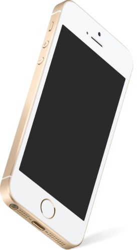 Apple iPhone SE gold front bottom left side