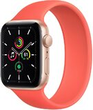 Apple Watch SE 44mm voorkant rechterzijkant aluminum goud