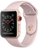 Apple watch series 3 pink goud voorkant rechterzijkant