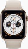 Apple watch series 4 voorkant goud stainless steel