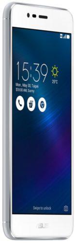 Asus ZenFone 3 max zilver voorkant linkerzijkant